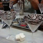 First to decorate your martini glass!
