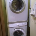 Washer and dryer (hidden in a room just next to the kitchen!)