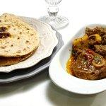 Beef Bhuna with chappatti bread