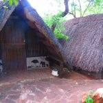 African Thatch style twin rooms