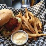 chicken sandwich and handcut fries
