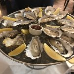 Oysters and champagne.