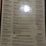 burgers & more menu page