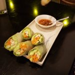 The best fresh spring rolls we have had in SE Asia!  The drinks, main courses & service were als