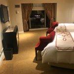 Bedroom area of suite