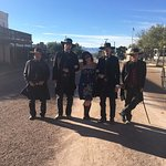 The actors were kind enough to pose for a photo with me. Yee-haw!
