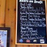 draft beer menu board