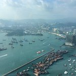 Awesome view of HK form Sky 100 Observation Deck