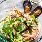 Curry verde de pescado estilo thai