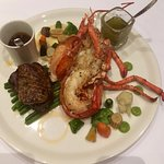 Surf and Turf, Filet with Fois Gras, and Lobster Tail