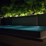 The infinity pool in the evening.