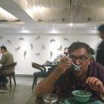 Me, enjoying some soup.