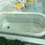 bañera antigua ahora esta de esposicion
