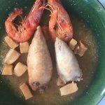 calamares rellenos con gambas