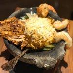Fajita Bowl with Chicken and Shrimp! My go to!!