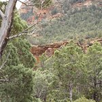 """Devils"""" Bridge from below on the trail up."""