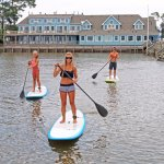 Paddleboards from our pier
