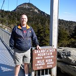 Steve after crossing bridge.