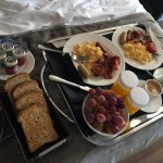 Amazing breakfast in bed! Delicious and wonderful service from great staff!