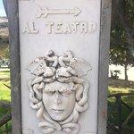 sign toward the Teatro Greco