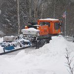The NH snowmobile trail runs along one side of our property and across the street.