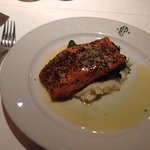 Atlantic Salmon with potato, spinach and crystal lemon