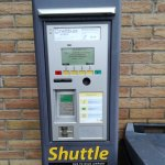 Ticket vending machine for the airport shuttle