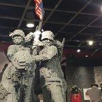 Lego statue of iconic Iwo Jima moment
