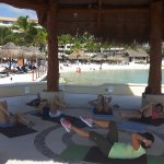 Great Pilates class in the beautiful Gazebo on the beach!