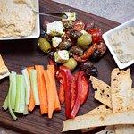 Mediterranen Plate with Hummus and Baba Ganoush