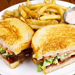 Three Little Pigs Sandwich with Fries and Kalamata Olive Aioli