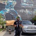 Mural artist Fabian with Hosea Williams