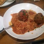 House Special--two meatballs with angel hair pasta (my choice)
