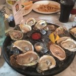 Oysters on the half shell.