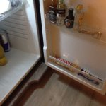 Mini fridge filled with all types of very affordable prices for goodies