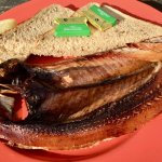 Kipper with brown bread and butter.. Yum!