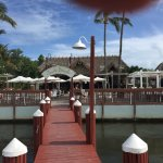 View of restaurant from jetty