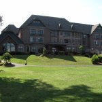 Vinifera Inn: Stonecutters large triple-window on left; large ballroom bottom right-side!