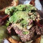 Luna Burger, topless, medium rare cooked perfectly