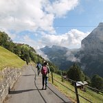 easy panoramic downhill trail to Gimmelwald
