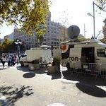 Passeig de Gracia TV crews for Independence Demonstrations