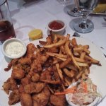 Captain's platter - fried clams, haddock, shrimp, and scallops