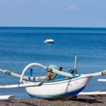 Fishing vessels on the beach.