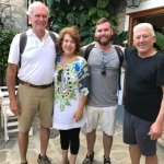 Our family with Hotel Mistra's owner, Thel