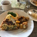 This was breakfast on second morning. Rosemary in the potatoes absolutely wonderful.