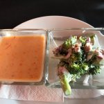 Soup and broccoli salad lunch special, Chameleons, 220 West Island Highway Parksville, BC