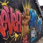 """Plenty of wonderful street art on the """"Falling in Love with Atlanta"""" tour. Never Give Up!"""