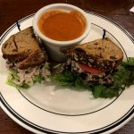 tomato soup and turkey salad