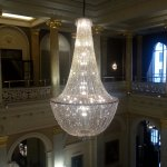 Fabulous Crystal Chandelier in the Lobby of The Grosvenor Hotel