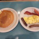 Randy's breakfast with pancake upgrade